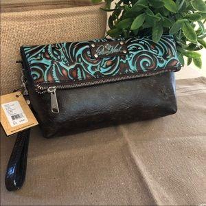 Patricia Nash Leather Wristlet Clutch